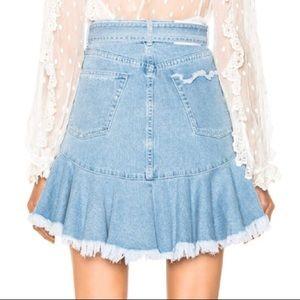 59da46dbb Zimmermann Skirts - Zimmermann • Tulsi Ruffled/Frayed Denim Skirt
